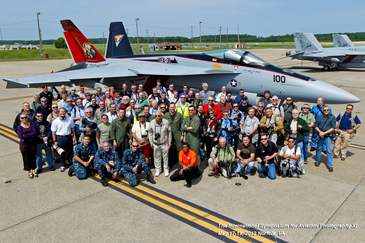2012 ISAP-XI group photo, Norfolk, VA.   VFA-31, Oceana NAS, Virginia Beach, VA.  Felix Rules.  (PHOTO BY ARNOLD GREENWELL